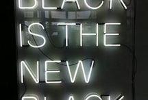 BLACK / Black color inspiration.