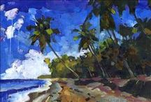 Paintings: Tropical Landscapes / This is a place for me to post my landscape paintings of some of my favorite places in the world, like Mexico, Brazil, Hawaii, and the Caribbean. Some of these works are still available as original paintings at douglassimonson.com; the ones that have been sold can still be purchased as beautiful framed prints from Fine Art America.