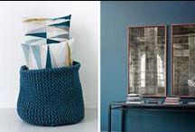 ambiance bleutée / la décoration revient au bleu