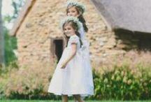 Flower Girl Dresses / Flower girl dresses from featured Nashville Designer, Savanna Children. 100% silk and cotton dress with smocking
