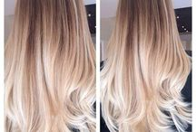 Ombre / balayage / Gorgeous dark roots to light ends we think rock and make for a stunning different look.