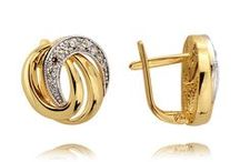 Fine Latch Back Earrings at All Things Gold / A selection of our finest 14 kt gold latch back earrings.