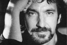 A / Alan Rickman  <3 -  I really love his smile and his smiling eyes... his soul... his voice, his act... his nose ...and who he was :(