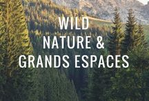 """Wild, Nature & Grands espaces / Partir explorer la face sauvage du monde. Retrouver son côté """"wild"""". Se sentir exister, et perdre pied dans les grands espaces."""
