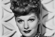"""Lucille Ball / Lucille Ball was--and is--America's """"Queen of Comedy."""" When asked about her comedic talent, Lucy replied, """"I'm not funny. What I am is brave."""" There is no pun intended when I say, """"I love Lucy!"""" (1911-1989) / by VintageGirl46"""