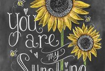 Inspirational  Words and Sayings / Inspiring words and chalkboard art
