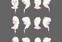Character Anatomy - Hair / Character Design References (머리카락)