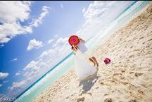 CANCUN  DOLPHIN BEACH - Photos Session / Weddings photo sesión  with  cute Japanese newlywed  in  Cancún Mexico. Location: DOLPHIN BEACH-EL MIRADOR Photographer : AkiDemi  カンクン ウエディングビーチセッション 撮影場所:ドルフィンビーチ-エル ミラドール フォトグラファー:AkiDemi