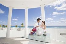 LE BLANC Cancun_Wedding / Weddings photo sesión  with  cute newlywed  in  Cancún Mexico. Location: Le Blanc   カンクン ウエディング ビーチ フォト セッション 撮影場所:ルブラン カンクン  フォトグラファー:AkiDemi