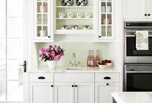 Kitchen / ~ Painted cabinets & light and bright farmhouse kitchens ~