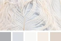 Colour schemes / ~ Soft greys, neutrals & pops of colour ~