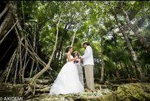 CENOTE COSMIC WEDDING / CENOTE COSMIC WEDDING セノーテ ウエディング Photographer AkiDemi