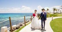 HYATT ZIVA CANCUN - Wedding / Weddings photo sesión with cute Japanese newlywed in Cancún Mexico.  Location: Hyatt Ziva Cancun  Photographer : AkiDemi  カンクン ウエディングビーチセッション  撮影場所:ハイアット ジバ カンクン  フォトグラファー:AkiDemi