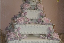 romantic wedding cakes / This is my wedding cake I prepared for a couple of friends who married in May. They wanted a square cake with delicate colours and this is the risult of their expectations