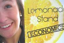 You want to make some money, then keep reading. / Smart kids reading Lemonade Stand Economics and learning how to avoid student debt.
