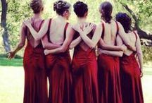 Bridesmaids / A variety of bridesmaid dress colour options.