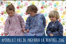 Tabliers & Blouses-BOBINE / Bobine est spécialiste du tablier d'école / blouse d'écolier depuis de nombreuses années. Possibilité de personnaliser le tablier / la blouse avec une broderie. Retrouvez tous nos modèles sur www.bobine.fr