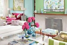Multi-Color Spaces / Interior design that uses many colors!