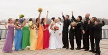 Rainbow Bride, Rainbow Wedding! / Rainbows are reaching new heights! Colorful dresses, rainbow shoes, multi-color bouquets and bridesmaid dresses. Some of it is multicultural, some festival, some to celebrate marriage equality.  Rich brilliant shades to pastel tones, all make for a beautiful wedding.