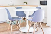 Pretty Pastels at Home / pastel colored interiors!