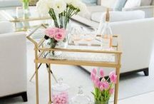 Entertaining / bar carts for the home and entertaining inside!