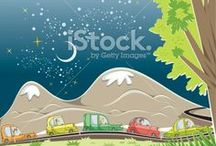 cars / vector cars and illustrations