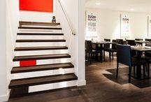 Project Zushi Bar - Z-parket - Floor: Paris / The warm dark brown Z-parket Paris floor complements the tasteful Zushi Bar restaurants interior. #zparket #interiordesign #engineeredhardwoodfloors