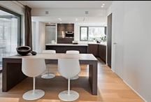 Project Brackenier - Z-parket - Floor: Nice / A modern interior with clean lines, using Z-parket Nice parquet as the ideal way of giving the interior the warm family atmosphere. Interior design Dennis T'Jampens #zparket  #interiordesign #hardwoodflooring #engineeredhardwoodfloors