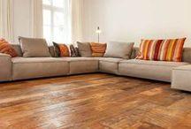 Project De Witte - Z-parket - Floor: Revigo / A  stylish living room with the vintage Z-parket Revigo floor. The Revigo consist of reclaimed wood! #zparket #barnwood #reclaimedwood #reclaimedhardwoodfloor