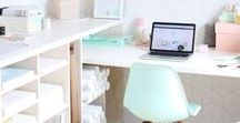WORKSPACE / Inspiration for light and bright workspaces...!