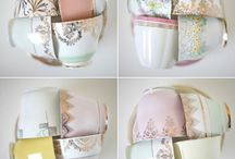 Vintage Tea Party Wedding / This theme uses a pastel colour palette to create a beautiful, vintage wedding theme with vintage tea pots and cups.