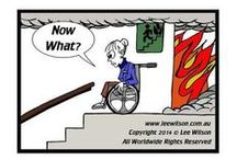 Disability Access Cartoons / A collection of cartoons highlighting the need for greater access into and from buildings