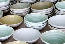My ceramic tableware / My love for reduction fired stoneware, led me to specialise in old Chinese/Korean and Japanese glazes, which I mix myself