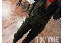 Khaki Styles / Olive, Green, Military Green, Khaki Fashion Color Group Trend.