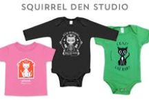 Baby Rompers! / Squirrel Den Studio's adorable onesies, rompers, and tees. Perfect for gift giving!