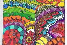 Colored doodles / Doodles with lots of color