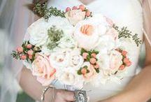 Ivory & peach wedding
