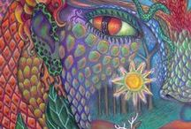 Colored pencil artwork / Samples of artwork that has been made with colored pencils, watercolor or Inktense pencils.