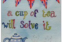 Coffee and tea quotes / I'm a huge lover of lots of coffee in the morning and big cups of tea the rest of the day :)
