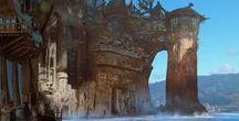 mythos / Mythological Landscapes, sceneries, and dark/low fantasy