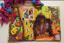 My own junk journal / My junk journal/ smashbook is a FUn place to PLAY ! I can use all my leftover artsy bits & pieces and lots of ephemera & funny thingies that I have lying around....