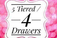 Acrylics Organizers-4 Drawer Units