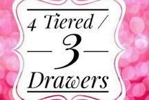 Acrylics Organizers-3 Drawer Units