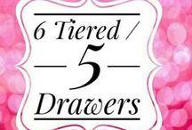 Acrylics Organizers-5 Drawer Units