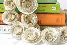Book Crafts / Crafts to make out of worn-out, falling apart, or withdrawn books