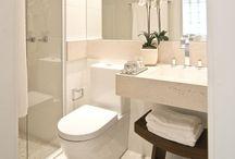 Banheiros e Lavabos / Idéias para decoração e organização de banheiros e lavabos