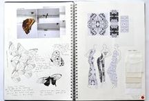 Fashion sketchbook and portfolio
