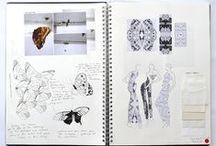 Fashion sketchbook and portfolio