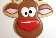 Christmas Cookies / Inspiration and ideas for decorated Christmas sugar cookies