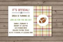 Birthday Party Invitations for Boys